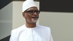 file-Ibrahim Boubacar Keita , pictured at a Sahel summit in the Mauritanian capital of Nouakchott on June 30