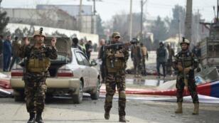 حراس الأمن الأفغان يقومون بدوريات في كابول في 2 مارس/ آذار 2018