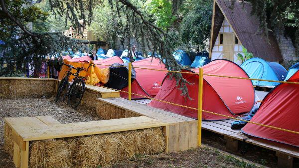 Le camping des Grands Voisins compte 110 emplacements