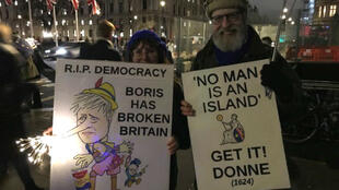 Europhiles Barbara and Salvatore Garfi travelled five hours from their home in Wales to protest in London.