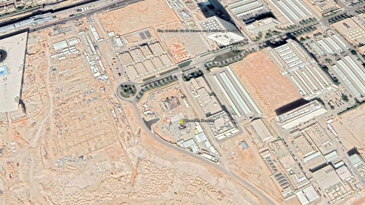 """Le site du reacteur nucléaire se trouve à la """"Cité du roi Abdulaziz pour la science et la technologie"""" à Riyad."""