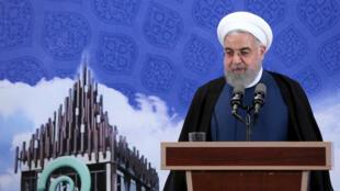 Le président iranien Hassan Rohani, le 5 novembre 2019 à Téhéran.