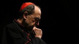 """Le cardinal Barbarin avait assuré n'avoir """"jamais couvert le moindre acte de pédophilie""""."""