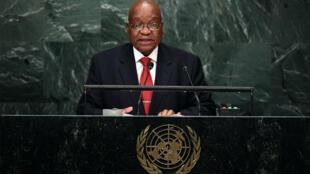 Le président sud-africain Jacob Zuma lors de son discours devant l'Assemblée générale de l'ONU le 20 septembre.