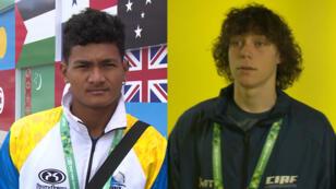 Kanaee Saloa Tauia (Tuvalu) y Bede Aitu (Islas Cook) fueron los únicos representantes de sus países en los Juegos Olímpicos de la Juventud.