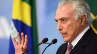 الرئيس البرازيلي السابق ميشال تامر، في يوليو/تموز 2017 في العاصمة برازيليا.