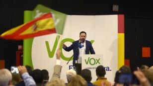 Le leader du parti d'extrême-droite Vox Santiago Abascal à Grenade le 26 novembre 2018.