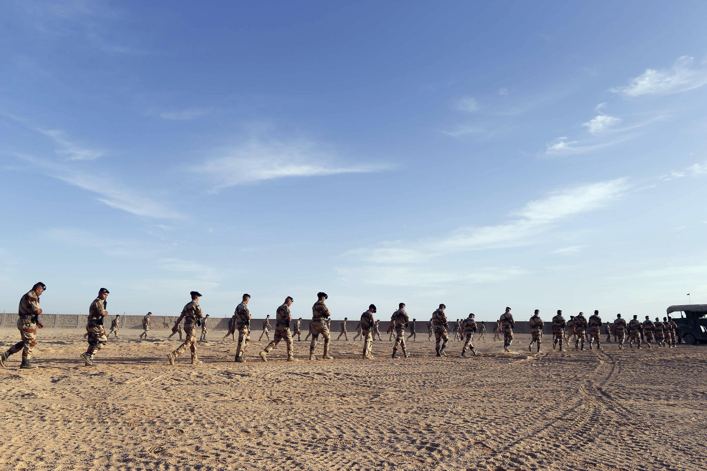 French soldiers on March 18, 2013 in the Tessalit camp in northern Mali.