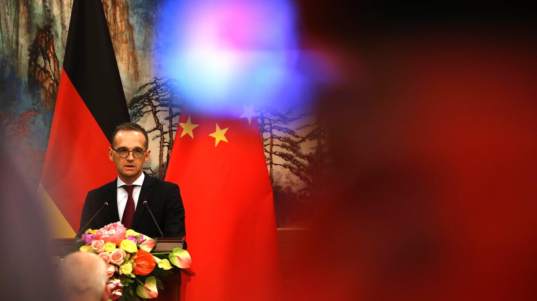 En esta foto de archivo del 13 de noviembre de 2018, el ministro de Asuntos Exteriores alemán, Heiko Maas, habla durante una conferencia de prensa conjunta en la Pensión Estatal Diaoyutai en Beijing.