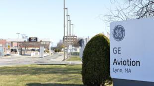 L'usine de General Electric aviation, le 31 mars 2020 à Lynn, dans le Massachusetts