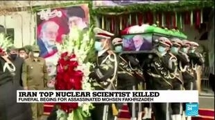 2020-11-30 10:07 Iran buries top nuclear scientist, blames Israel and US for attack