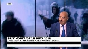 Abdessatar Ben Moussa, président de la Ligue tunisienne des droits de l'Homme, vendredi sur France 24.