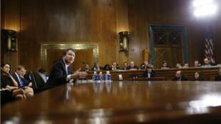 Le juge Brett Kavanaugh face à la commission du Sénat américain le 27 septembre.