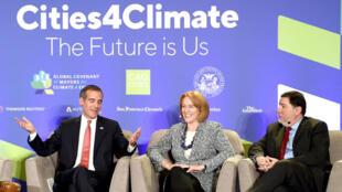 Le maire de Pittsburgh Bill Peduto, lors du sommet sur le climat à San Francisco, le 12 septembre.