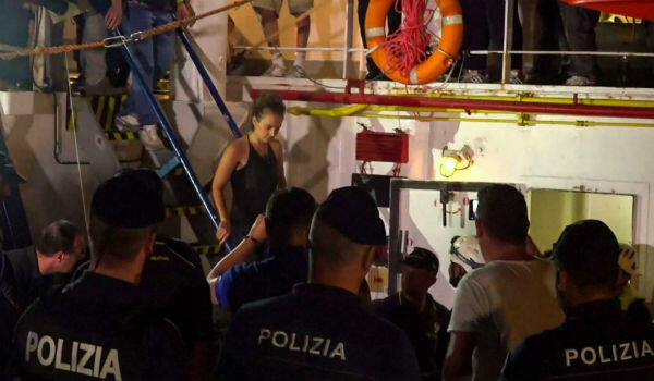 Sea-Watch captain Carole Rackete is arrested by Italian police after docking in the port of Lampedusa.