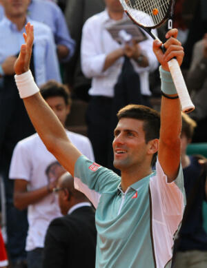 Novak Djokovic heureux