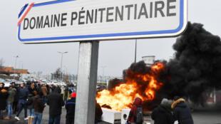 Blocage de la prison de Vendin-le-Veil le 15 janvier.