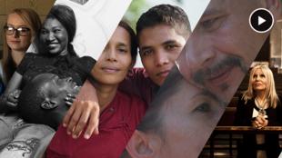 """Série de portraits de couples """"contrariés"""" dans huit pays différents."""