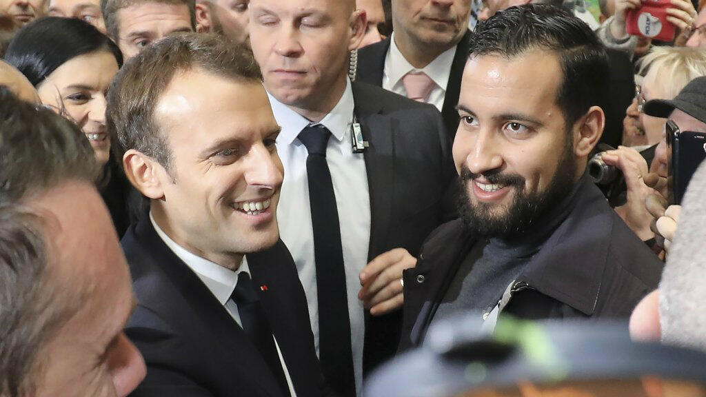 AFP file photo | A May Day incident involving Alexandre Benalla (pictured right) has triggered the biggest political scandal of Emmanuel Macron's presidency.
