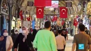 2020-06-01 19:08 Covid-19 : Levée des restrictions en Turquie, le Grand Bazar d'Istanbul rouvre