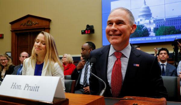 Scott Pruitt, ancien patron de l'agence de protection de l'environnement (EPA), le 28 avril 2018.
