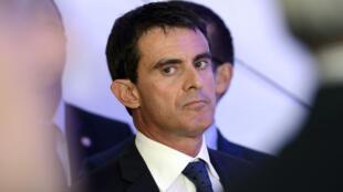 Manuel Valls photographié à Créteil lors d'une cérémonie concernant le Grand Paris, le 13 octobre 2014.