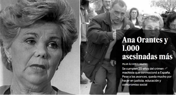 Le quotidien El Pais a consacré un dossier à Ana Orantes à l'occasion des 20 ans de sa mort