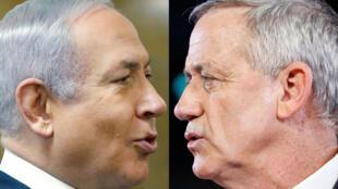 Benjamin Netanyahu (izquierda) y Benny Gantz (derecha) se enfrentan en unas elecciones que son interpretadas como un plebiscito para condecorar o castigar al actual primer ministro de Israel.