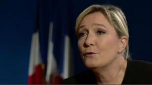 Marine Le Pen sur la BBC lors de l'émission politique diffusée le 13 novembre.