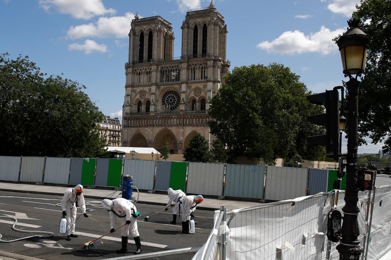 Notre Dame fire lead pollution 2019