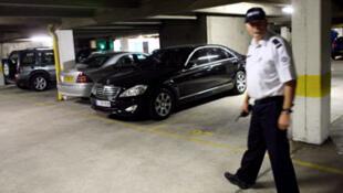 Le parking où a été assassiné Brahim Déby le 2 juillet 2007
