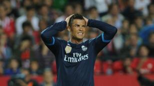 Cristiano Ronaldo lors du match du Real Madrid contre le FC Séville, le 8 novembre 2015.