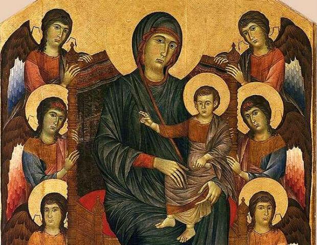"""Le Louvre expose déjà l'une des œuvres les plus célèbres de Cimabue, un somptueux """"Maestà""""."""