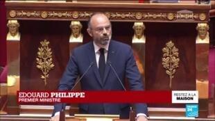"""2020-04-28 15:05 Coronavirus - Philippe devant l'Assemblée : Prolonger le confinement aurait des """"conséquences gravissimes"""""""