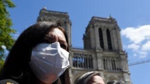 Anne Hidalgo, masquée, le 31 mai 2020 à Paris