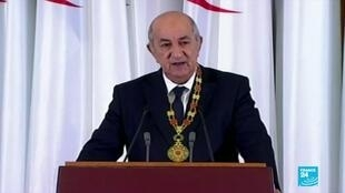 2019-12-19 21:11 Algeria's Abdelmadjid Tebboune inaugurated as new president after elections