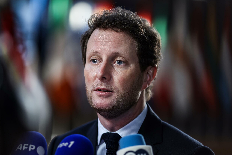 Le secrétaire d'Etat aux Affaires européennes Clément Beaune, le 21 septembre 2021 à Bruxelles