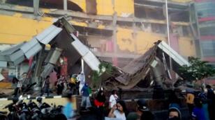 Escombros de un centro comercial después del terremoto de magnitud 7,5 en Palu, Sulawesi Central, en Indonesia. 28 de septiembre de 2018.