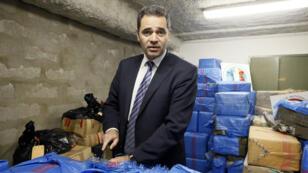 L'ex-patron de la lutte antidrogue en France, François Thierry, lors d'une saisie de cannabis en 2012.