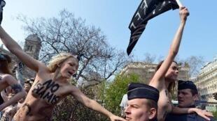 La chef de file des Femen en France Inna Shevchenko.