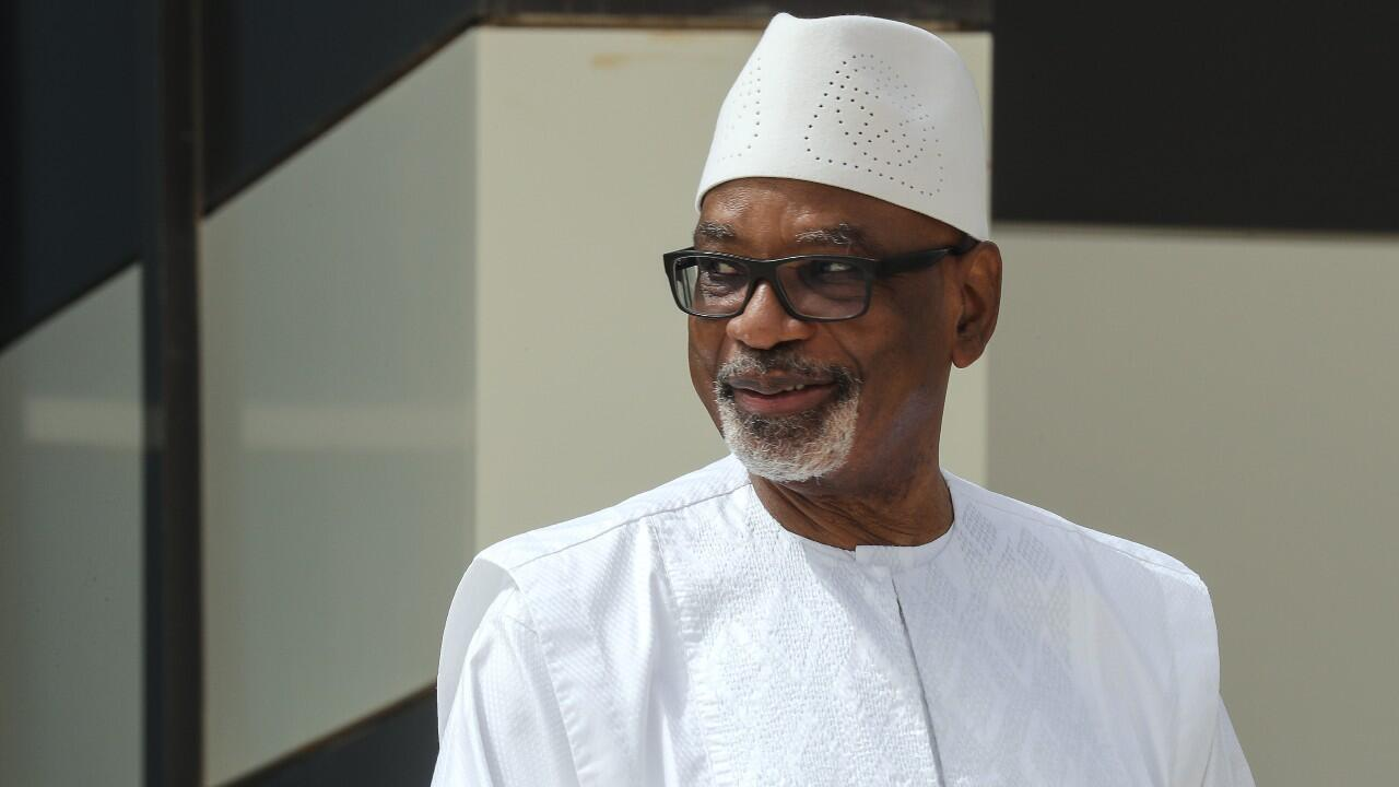 El expresidente de Mali, Ibrahim Boubacar Keïta, el 30 de junio de 2020
