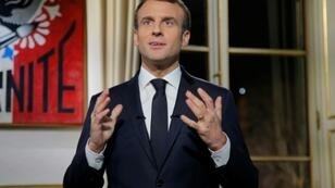 In his New Year's address, French President Emmanuel Macron vowed to resume his reforms programme in 2019, including trimming the sprawling public sector and shaking up the unemployment and pension systems