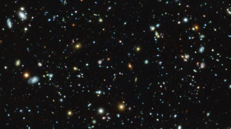 L'image du champ ultra-profond de MUSE. Forcément, à l'œil nu, on y voit pas grand chose.
