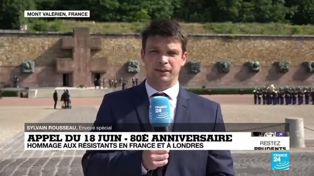 2020-06-18 10:01 80e anniversaire de l'appel du 18 juin : des hommages en France et à Londres