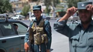 Des policiers afghans déployés à Kaboul (archives).