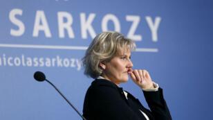"""Nadine Morano lors d'une réunion de l'association """"Les amis de Nicolas Sarkozy"""" en février 2013."""