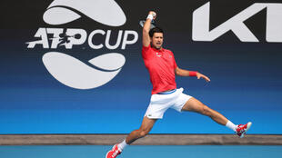 Novak Djokovic opened his ATP Cup campaign singles and doubles wins on Tuesday