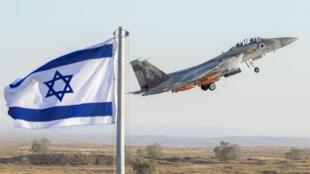 """المقاتلة الإسرائيلة """"إير-فورس إف15"""" خلال استعراض في قاعدة حاتزريم العسكرية 29 حزيران/يونيو 2017."""