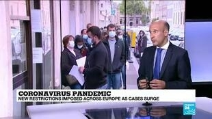 2020-10-07 11:06 Coronavirus pandemic: New restrictions imposed across Europe as cases surge