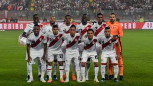 """L'équipe du Pérou, surnommée """"Les Incas""""."""